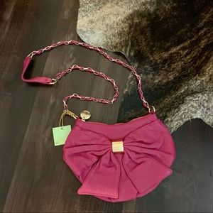 Pink/Gold Bow Crossbody Bag